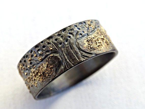unique viking ring viking wedding band tree of life by CrazyAssJD