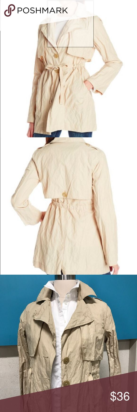 Sanctuary Beige Khaki Trench Coat Great light weight crinkle casual style trench coat. Great for tossing on with a tee and a pair of jeans. Just the right weight for transitioning into spring. Brand New with Tags Sanctuary Jackets & Coats Trench Coats