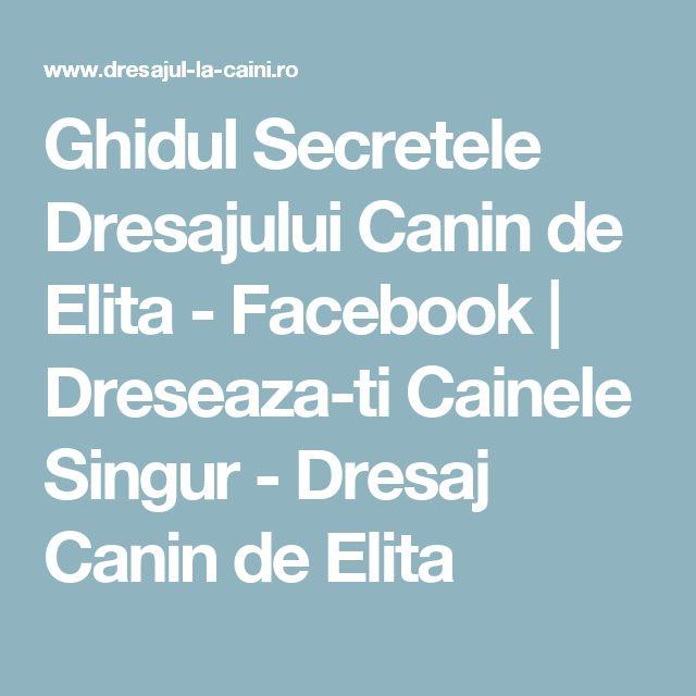 Ghidul Secretele Dresajului Canin de Elita - Facebook | Dreseaza-ti Cainele Singur - Dresaj Canin de Elita