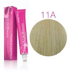 Matrix Socolor Beauty 11A ультра светлый блондин пепельный, стойкая крем-краска для волос 90 мл