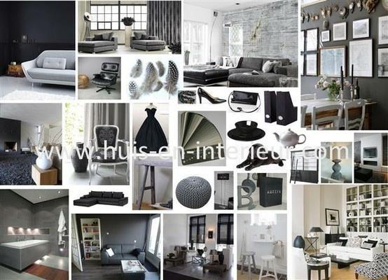 Shades of black and grey - www.huis-en-interieur.com