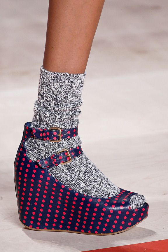 [This] trend has appeared not only on the streets, but on high-end fashion catwalks from big names like Marc Jacobs and Prada. Both these brands often mix prints of socks and sandals together.