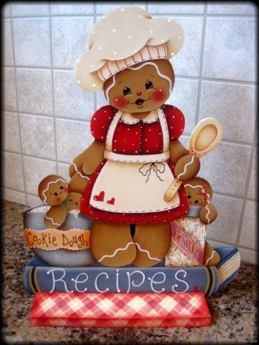 HP GINGERBREAD Cookie Dough/Recipe Book SHELF SITTER