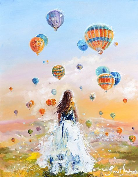 Купить Здесь рождаются мечты - картина маслом - подарок любимой, лето, летние картины, оливковый