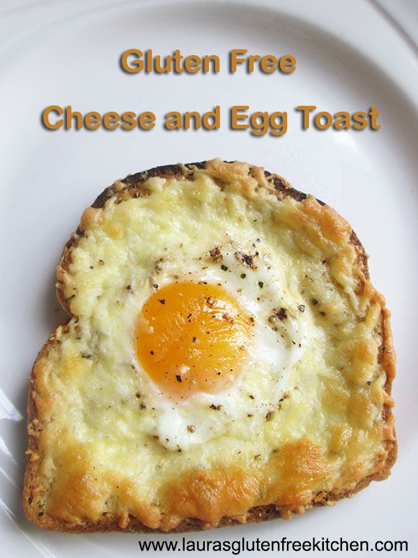Gluten Free Cheese and Egg Breakfast Toast