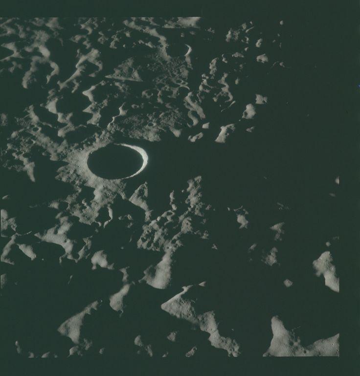 Apollo 16 Hasselblad image from film magazine 120/V - Lunar orbit