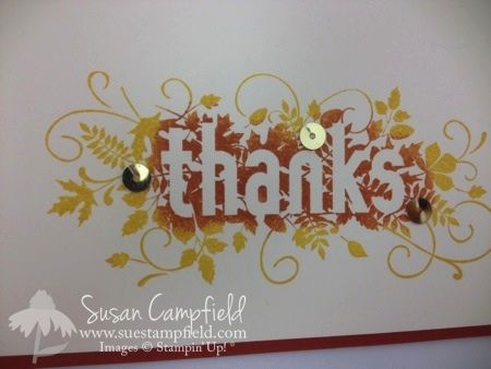 Video Tutorial - Two Tone Technique on a Fun Fall Card With Seasonally Scattered! www.suestampfield.com