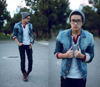 : Hipster Boys, Style, Jeans Jackets, Date Outfits, Jean Jackets, Denim Jackets, Men Fashion, Guys Outfits, Black Jeans