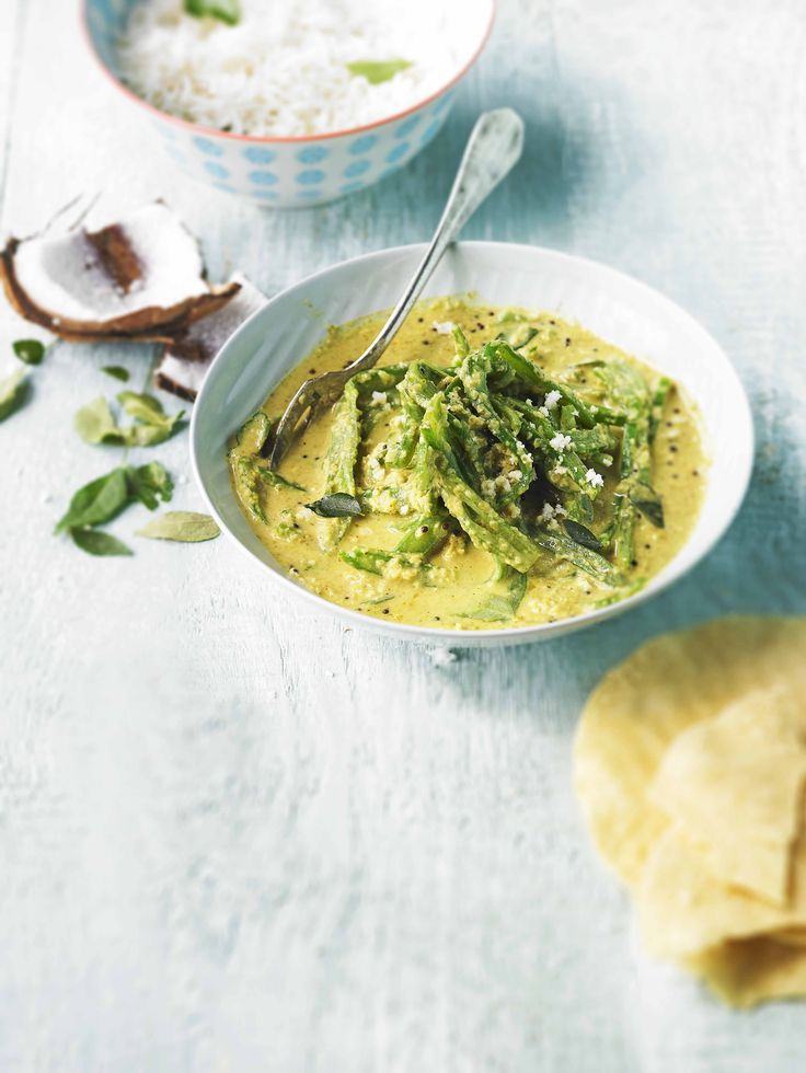 Keralan runner bean curry: New idea for a vegetarian curry using runner beans. These often-overlooked veg make a tasty, spicy dish and work well with Indian spices and coconut milk.