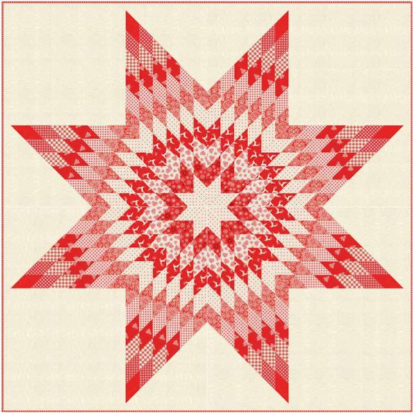 FREE PATTERN DOWNLOAD: Make this Star Quilt using the Scandi 4 collection by Makower. Designed by Lynne Goldsworthy of lilysquilts.blogspot.com.