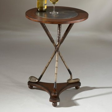Great Butler Heritage Golf Round End Table (minus The Wine!