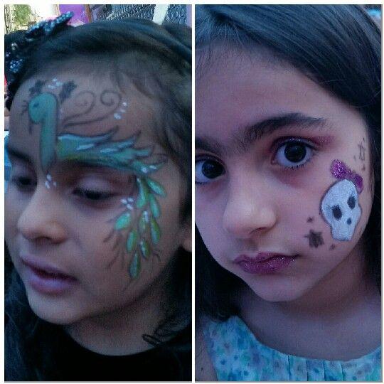 Caritas pintadas fiesta de YARITZA