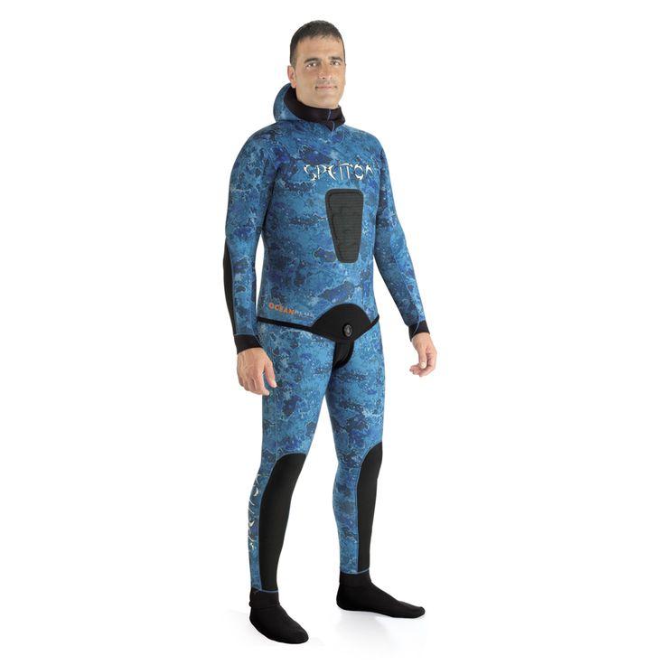 Traje de camuflaje Spetton Ocean Blue Camo, especial para pesca en Océano Atlántico y Pacífico. Venta de trajes de neopreno baratos online Espesca.es.