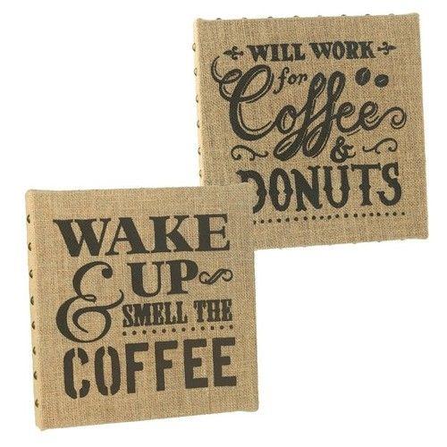 Metal Studded Coffee Kitchen Signs Wall Decor Wall Decor Coffee
