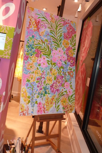Lilly Pulitzer painting- how great would these be in your room?