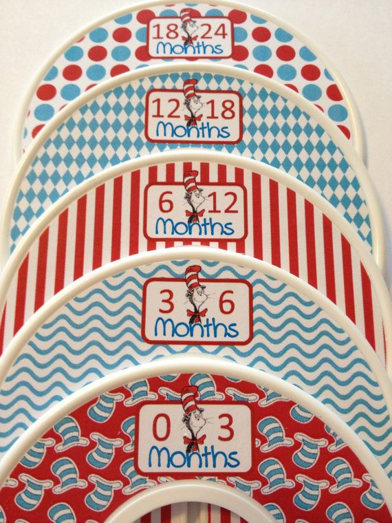5 Custom Baby Closet Dividers Organizers   Dr. Seuss For Baby Boy Infant    Baby
