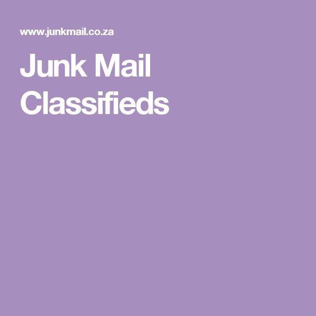 Junk Mail Classifieds