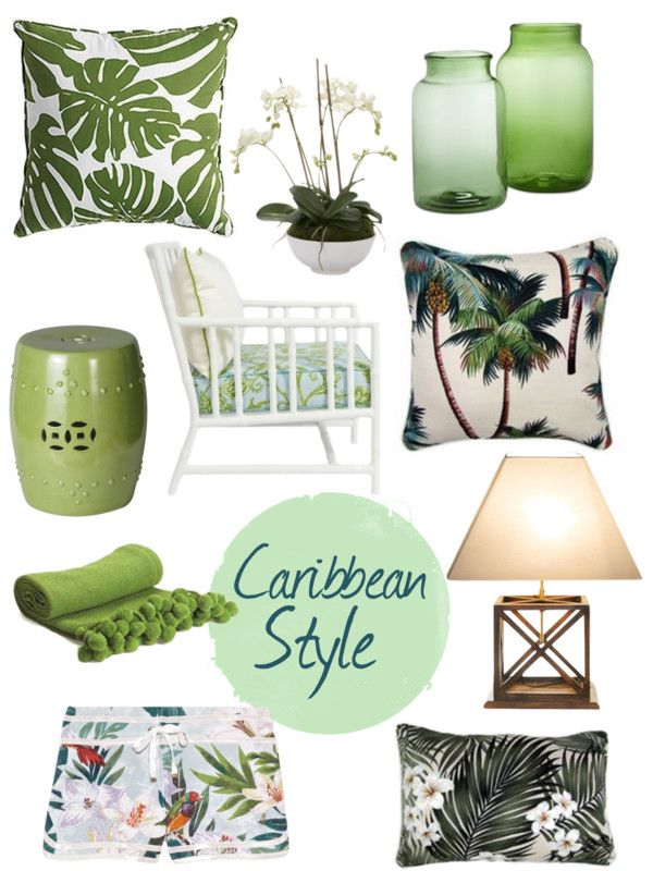 caribbean style palm beach chic florida living pinterest house decorations furniture and style - Tropical Decor