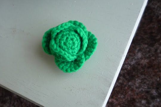 Crocheted Mini Cabbage - free crochet  amigurumi pattern