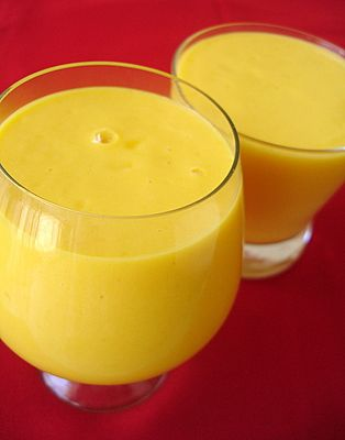 Authentic Mango Lassi Recipe. Cant wait to make these for the potluck!