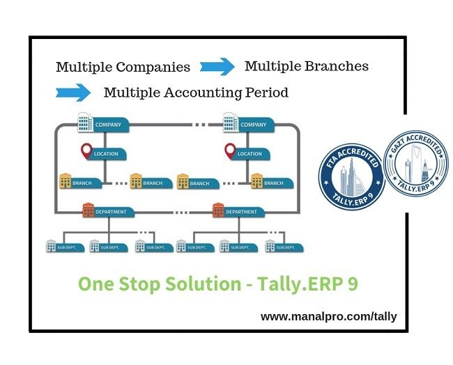 Need One Stop Solution For Multiple Companies With Multiple Branches And Accounting Period Then Go For Tally Erp 9 Accounting Solutions Accounting Software