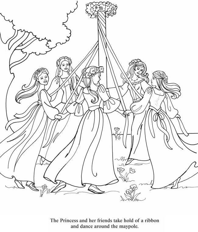 princess color page 4