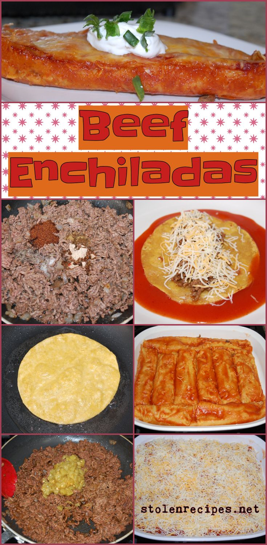 Beef Enchiladas Stolenrecipes Net Recipe Beef Enchiladas Corn Tortilla Recipes Food