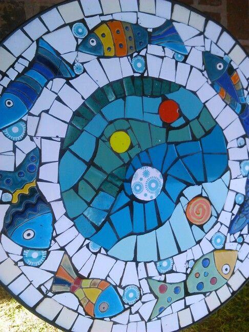 419 best images about mesas de mosaico on pinterest for Mesas de mosaico