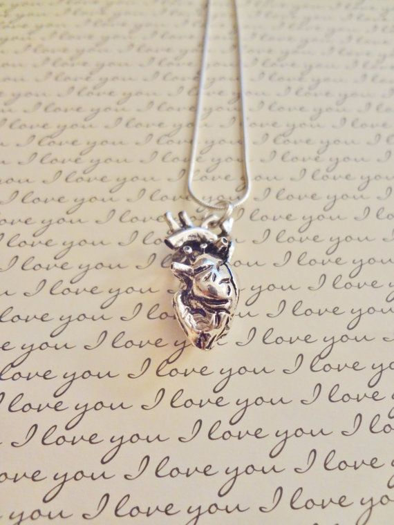 Human Anatomical Heart Necklace Anatomy Heart Necklace Gift for Doctor Med Student Nurse Cardiologist Firefighter Paramedic EMT