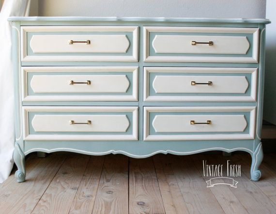 Best French Provincial Dresser Changing Table Painted Blue 400 x 300