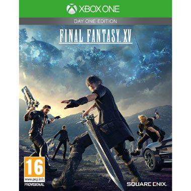 Xbox One Final Fantasy XV Day One Edition  Ga in Final Fantasy XV voor Xbox One samen met Noctis en zijn vrienden verschillende uitdagingen aan in een enorme open wereld die gevuld is met gigantische wezens wonderlijke gebieden diverse culturen en verraderlijke vijanden!  EUR 54.99  Meer informatie