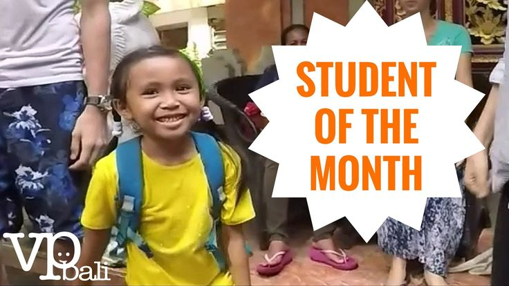 The Student of the Month Award is an event that we organize at Volunteer Programs Bali for our elementary school students. It motivates them to come to our programs and makes them more eager to learn. The children in our programs can receive an award for their effort and dedication to our free after school classes.