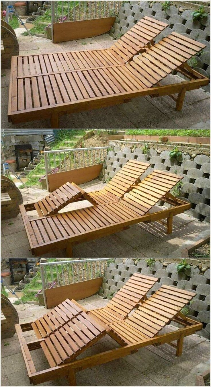 If your garden location is not featuring the wood pallet sun lounger in its account then probably your garden is imperfect place to settle. This double sun lounger is meant for the sitting arrangement for the two individuals. You can even go for the arrangement of the one sitter sun lounger as well.