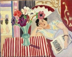 Henri Matisse, Femme et anénomes, 1920 circa, Olio su tela, 78,7 x 98,8 cm, © Succesion H. Matisse by SIAE 2012