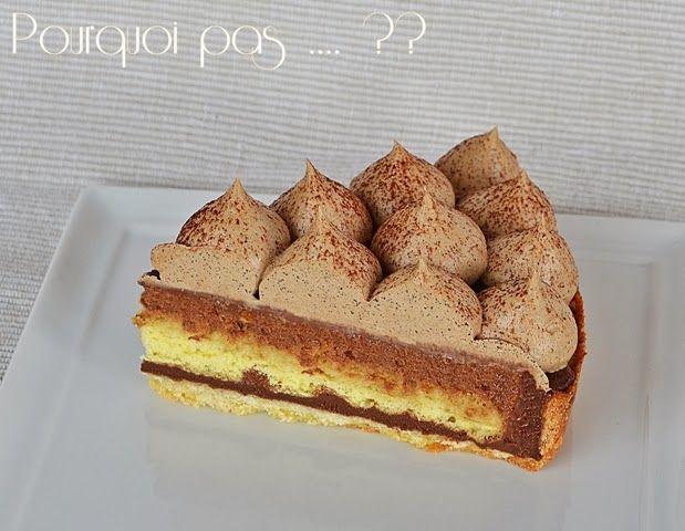 Pourquoi pas .... ??: Tarte Irish Coffee - café / chocolat / whisky