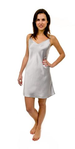 Ivory silk chemise short nightie. Perfect for hot nights and can even be worn was a slip. $108 #summer