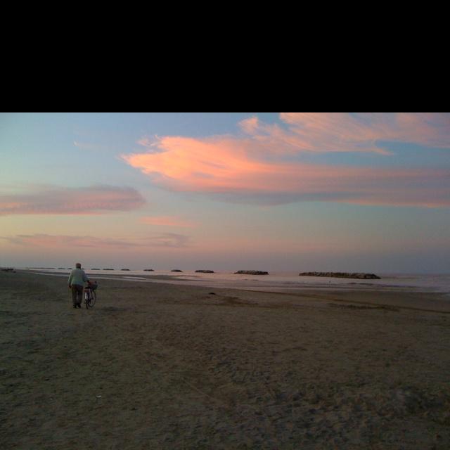 A beautiful sunset on Italian beach