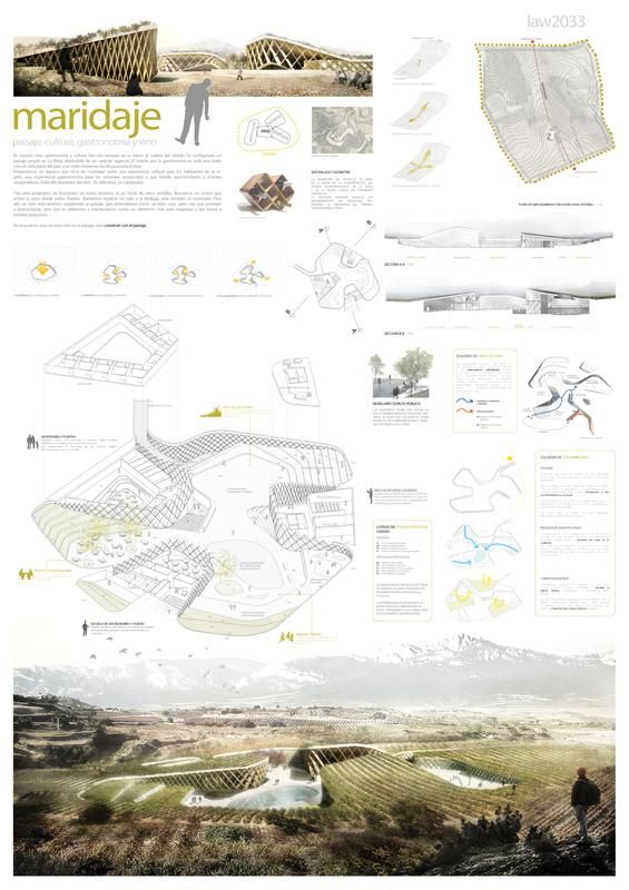 [A3N] : Landscape, Architecture & Wine Competition Winner ( Spain ) ( 1st prize : Maridaje ) /  Javier Ureña Carazo, Isabel Rivas.