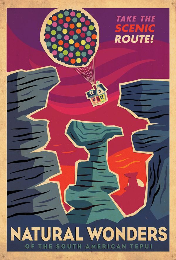 "Retro posters from Disney Pixar's ""Up"""