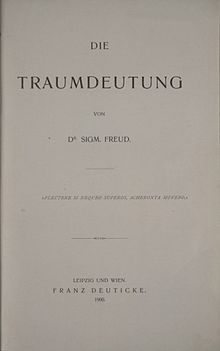 The Interpretation of Dreams-- is an 1899 book by psychoanalyst Sigmund Freud. The book introduces Freud's theory of the unconscious with respect to dream interpretation, and also first discusses what would later become the theory of the Oedipus complex. Freud revised the book at least eight times and, in the third edition, added an extensive section which treated dream symbolism very literally, following the influence of Wilhelm Stekel.