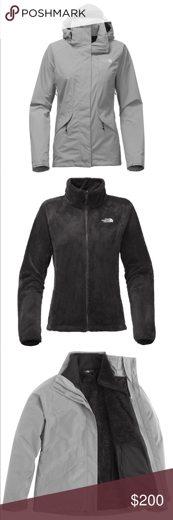 The North Face Women's Boundary Triclimate Jacket Brand new never worn. With tags. The North Face Women's Boundary Triclimate Jacket XS color: Mid Grey  3 coats in one! Has black fleece that zips into shell that can be used as rain coat The North Face Jackets & Coats