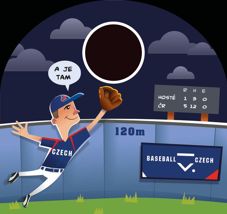 Illustration for project Road Show, client Czech Baseball Association