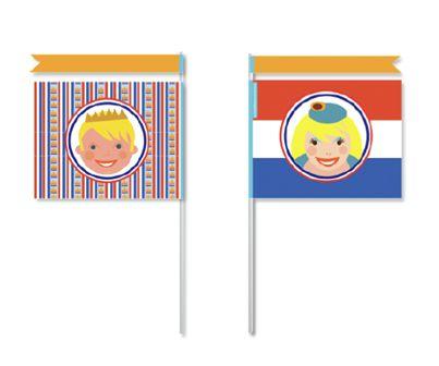 Zwaaivlaggetjes met koning Willem Alexander en Koningin Máxima! #freebie #download