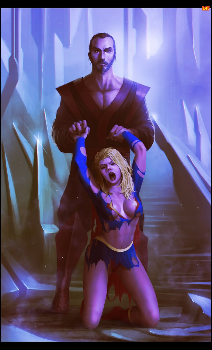 General Zod shreds Supergirl = messed up.