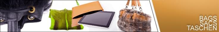 Vapami verlockt mit Handtaschen zu jeder Tageszeit: Morgens Shopper, Mittags Business iPad Case, abends Clutch aus Nerz.