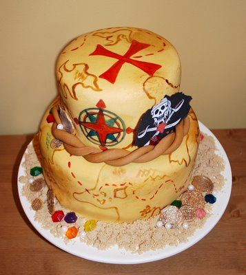113 best Pirate Cake Party images on Pinterest