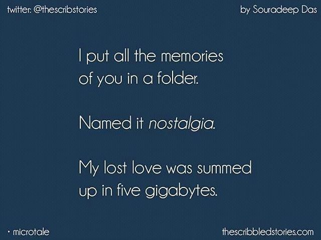 MicroTale on 'Nostalgia' by Souradeep Das (Fan-Post)   Twitter: @thescribstories .