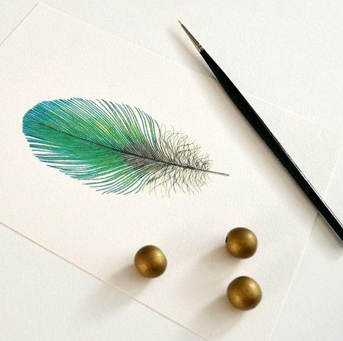 Zelené peříčko