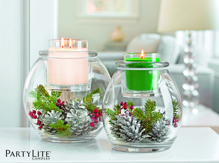 Porte pot bougie escentiel clearly creative support en - Decoration de table de noel a fabriquer ...