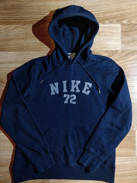 4bf53a14c1 Nike 72 Mens Sweatshirt Hoodie Tracksuit Top Jacket Hooded Navy Blue ...